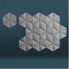 3d панели «Гексагон техно»