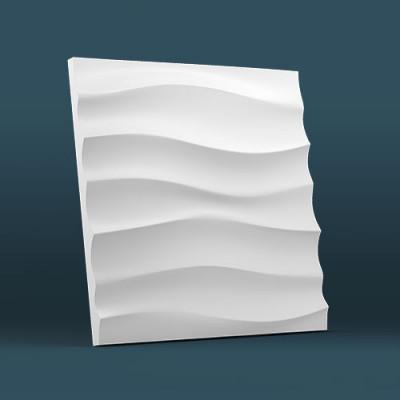 3d панели гипсовые «Волна горизонтальная крупная»