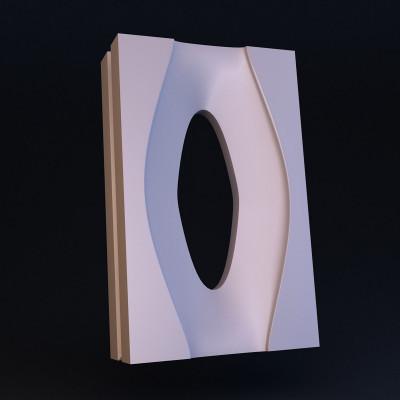 3D блок гипсовый 002