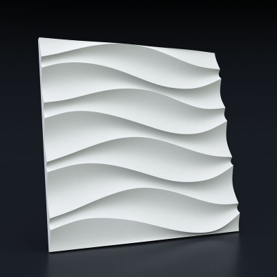 3d панели гипсовые «Волна Симметричная»