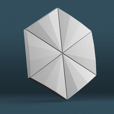 3d панели гипсовые «Гексагон техно»