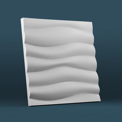 3d панели гипсовые «Волна горизонтальная крупный рельеф»