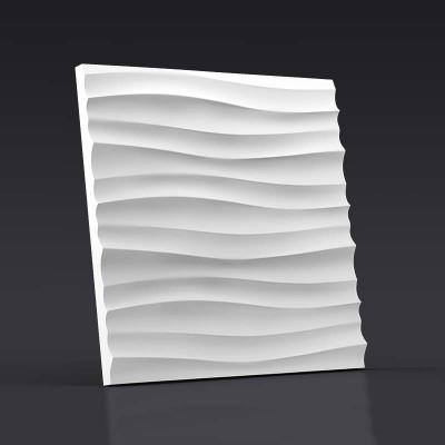 3d панели гипсовые «Волна горизонтальная мелкая»