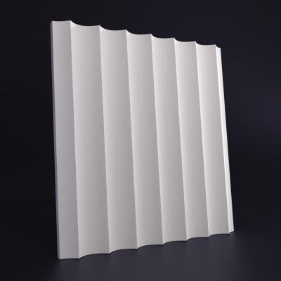 3d панели гипсовые «Волна продольная мелкая»